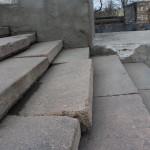 Выпадание гранитных ступеней из ложа Потёмкинской лестницы